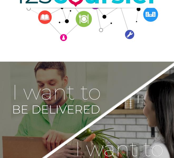 Accueil application mobile de livraison collaborative Android & iOS